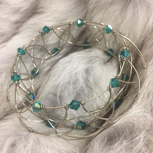 Mandala Bleu Swarovski - chakra de la gorge -