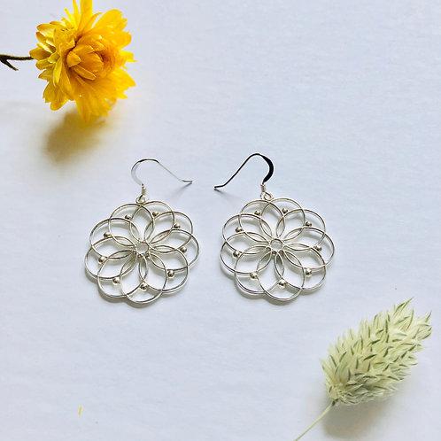 Boucles d'oreille Mandala Fleur de Vie