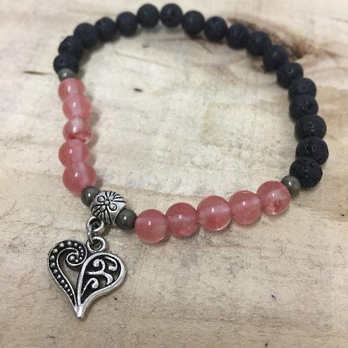 Bracelet diffuseur quartz et lava