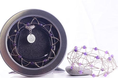 Mandala Améthyste - chakras couronne -