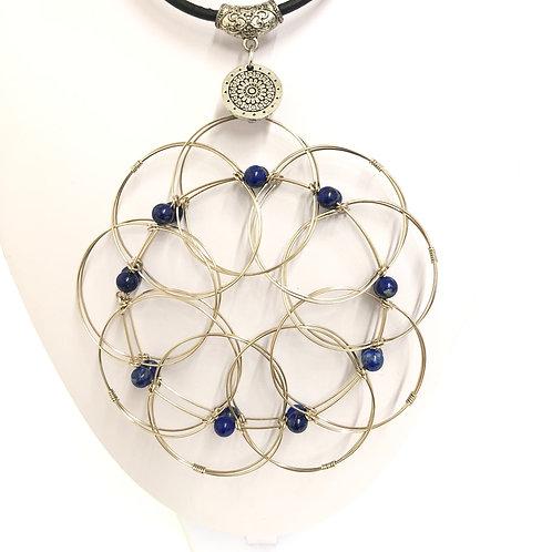 Mandala Lapis Lazuli - chakra 3e oeil-