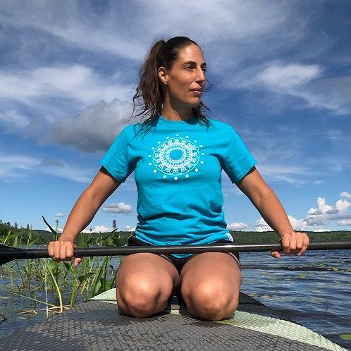 T-shirt Mandala Solaire Turquoise _UNISEX