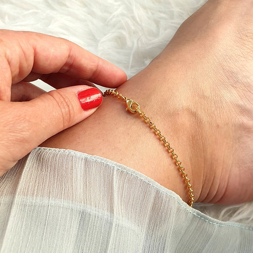 Simple Gold Chain Anklet
