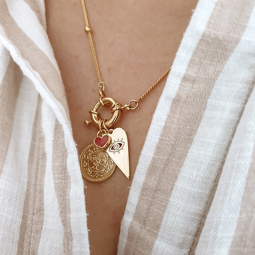 Love Heart Layering Necklace