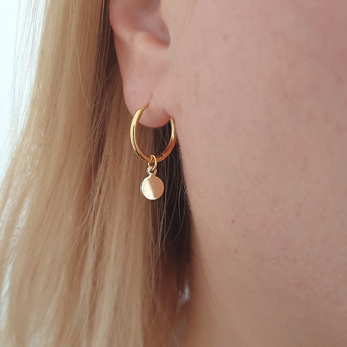 Small Coin Hoops