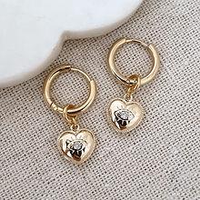 heart charm hoop earrings