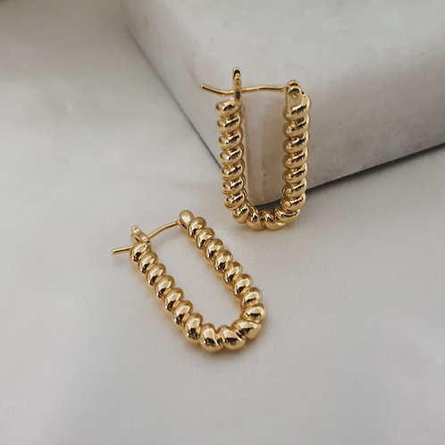 14ct Gold Filled Twisted Hoop Earrings