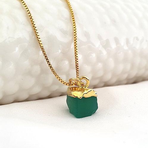 Green Onyx Gemstone Necklace