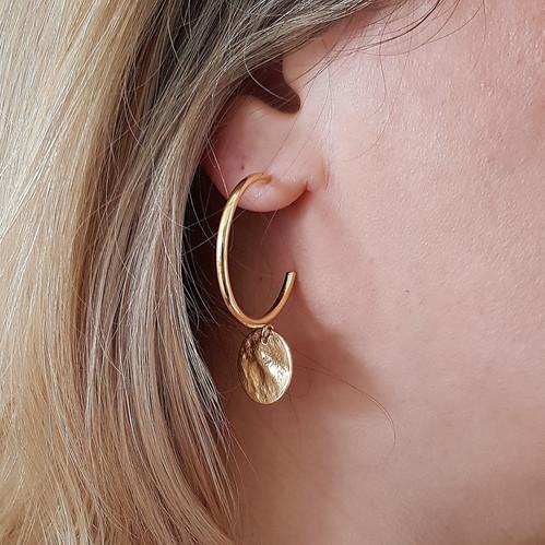 d96b6f124dc4 Gold Circle Hoop Earrings