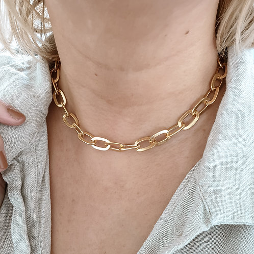 Curved Cable Chain Necklace