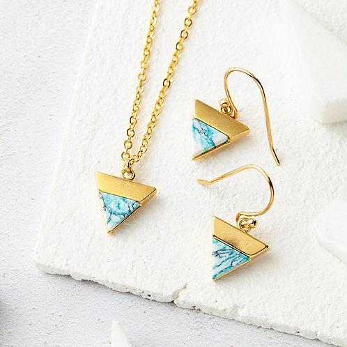 Marble Triangle Jewellery Set