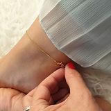 super dainty gold anklet