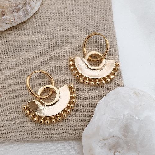 Ornate Semi Circle Hoops
