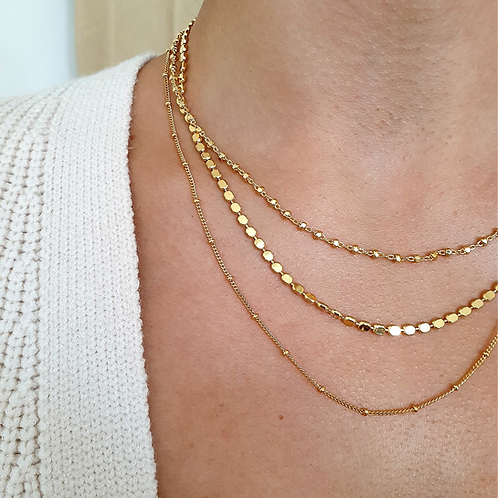 Dainty Gold Necklace Gift Set