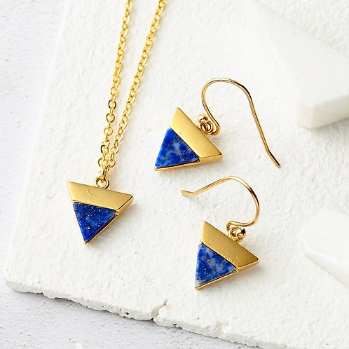 Lapis Triangle Jewellery Set