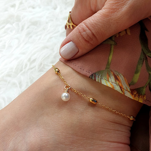 Pearl Charm Anklet