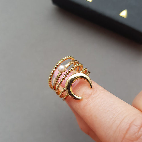 Moon Crescent Stacking Ring