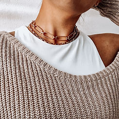 chunky chain layering necklace