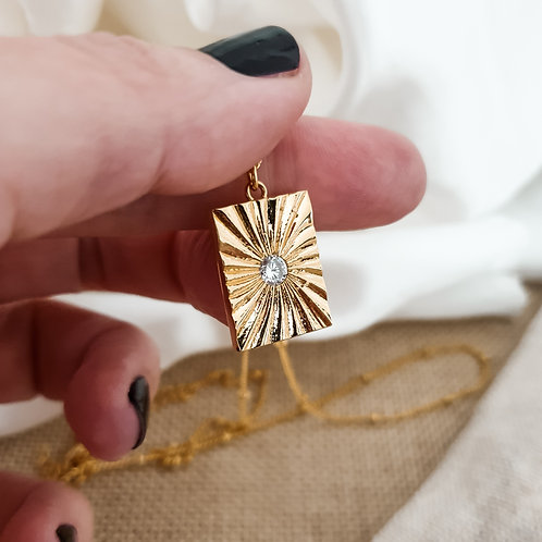 Square Medallion Necklace