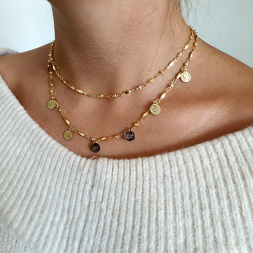 Layering Coin Necklace Set