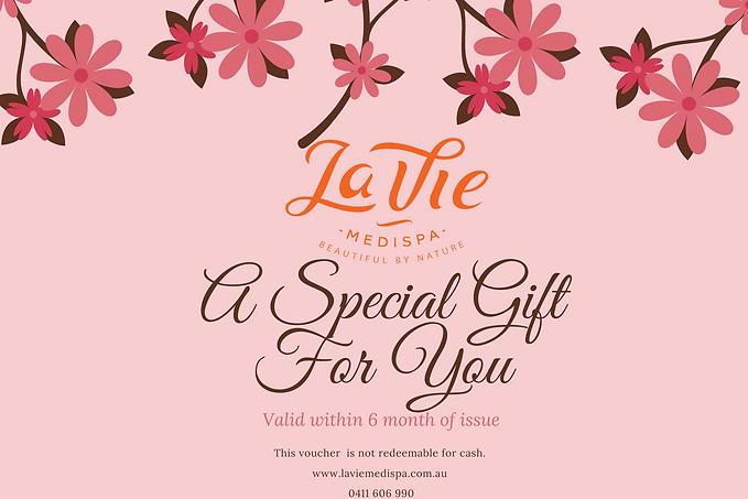 Pastel Floral Massage Gift Certificate (