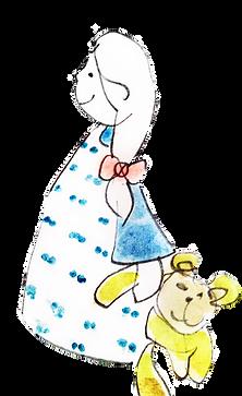 Lille barn med bamse