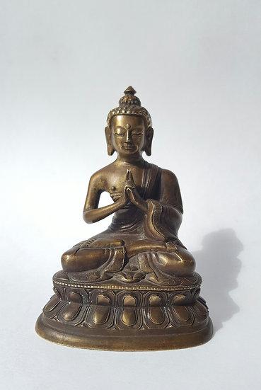Старинная бронзовая статуэтка Нагарджуна