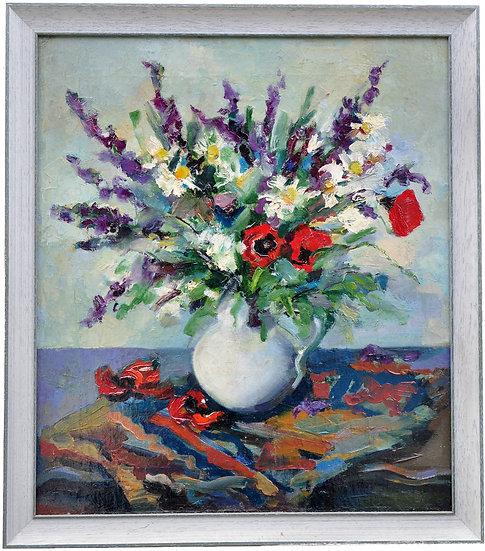 """""""Полевые цветы"""" Импрессионизм. Давид Гиоргадзе. 1988 год."""
