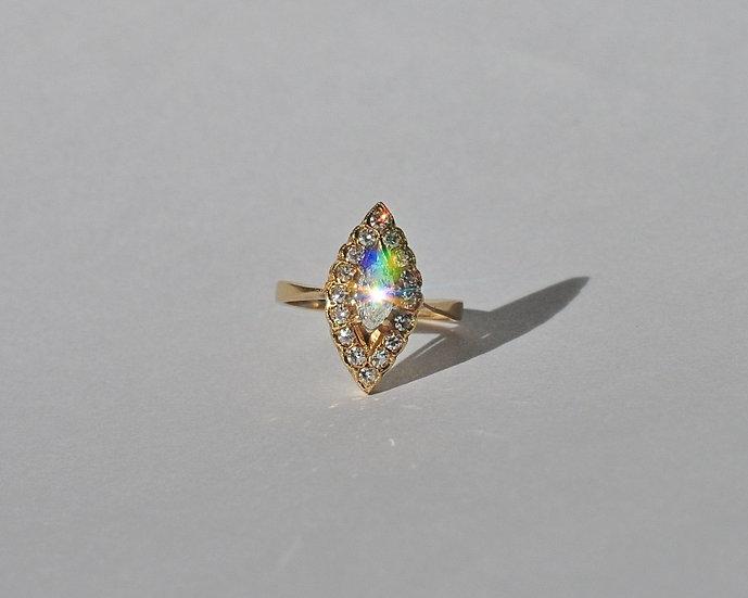 "Золотое кольцо ""Маркиз"" с бриллиантами. 750 проба"