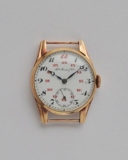 """Золотые наручные часы """"Мозер"""" H.Moser. 1920-е годы"""