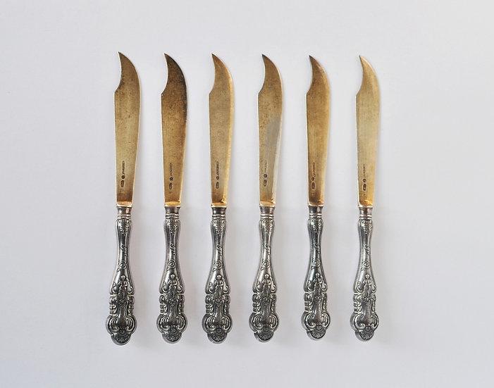 Серебряные ножи фабрики Морозова. 84 проба. 19 век