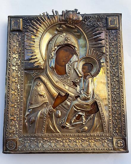 Старинная икона Тихвинской Божией Матери. 1828 год