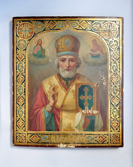 Икона Св.Николая Чудотворца. 19 век. Аналой