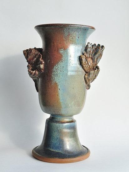 Авторская керамическая ваза. М.М. Колосова-Лисовская совместно с Ю.Мунтян.