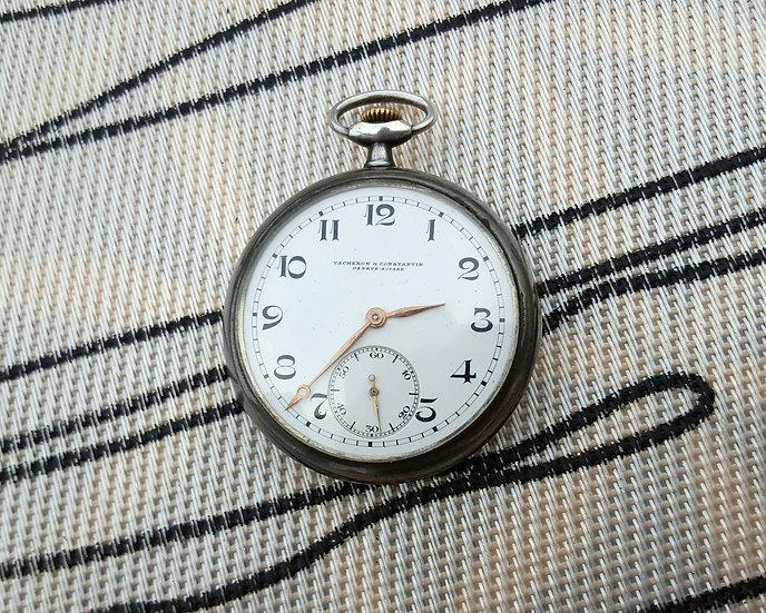 Cтаринные серебряные швейцарские карманные часы Constantin Vacheron
