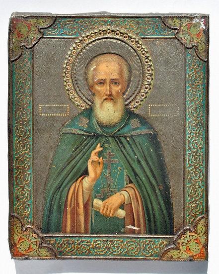 Икона Св. Сергий Радонежский. 19 век