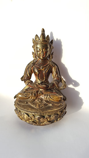 Старинная бронзовая скульптура Будда Амитаюс