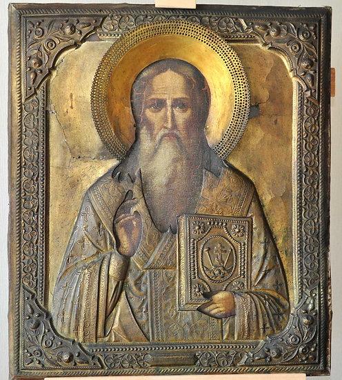 Старинная икона Святой Власий Севастийский