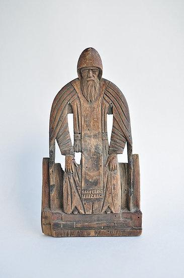 Старинная скульптура Св. Нила Столобенского. 18-19 век