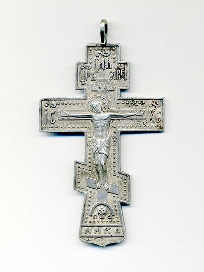 Старинный наперсный иерейский крест. Серебро 84 пробы