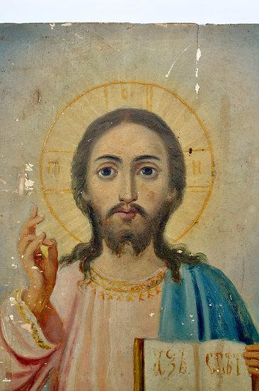 Старинная икона Господь Вседержитель. Модерн