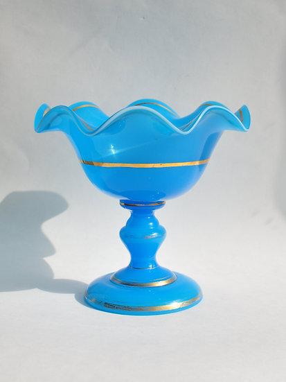 Старинная стеклянная вазочка (конфетница) Россия. 19 век