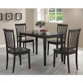 5 Piece Dining Set in Cappuccino Finish