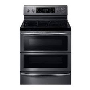 Samsung 5.9CF Smart Flex-Duo Electric Black Stainless Double Oven
