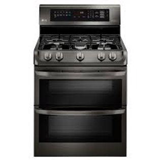 LG 6.9CF Double Gas Convection Black Stainless Range w/ProBake