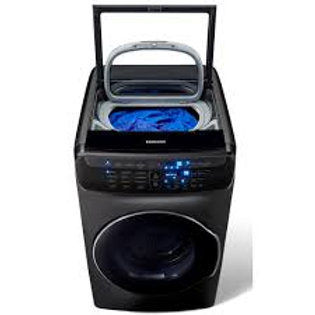 Samsung 6CF FlexWash™ Mega Capacity Washer in Black Stainless