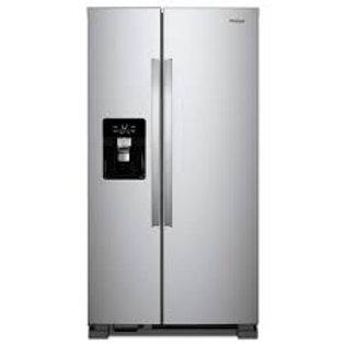 "Whirlpool 21CF 33"" Width Stainless Refrigerator"