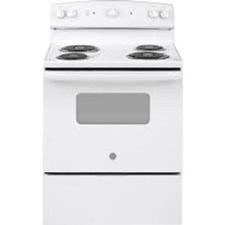 GE Coil Electric White Range