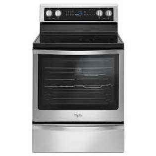 Whirlpool 6.4CF 5 Burner Stainless Electric Convection Range