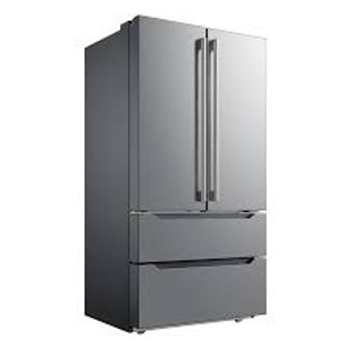 Midea 22.5CF 4 Door Counter-Depth Stainless Refrigerator with Ice Maker